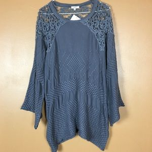 EASEL / NWT Sweater Bell Sleeve Dress
